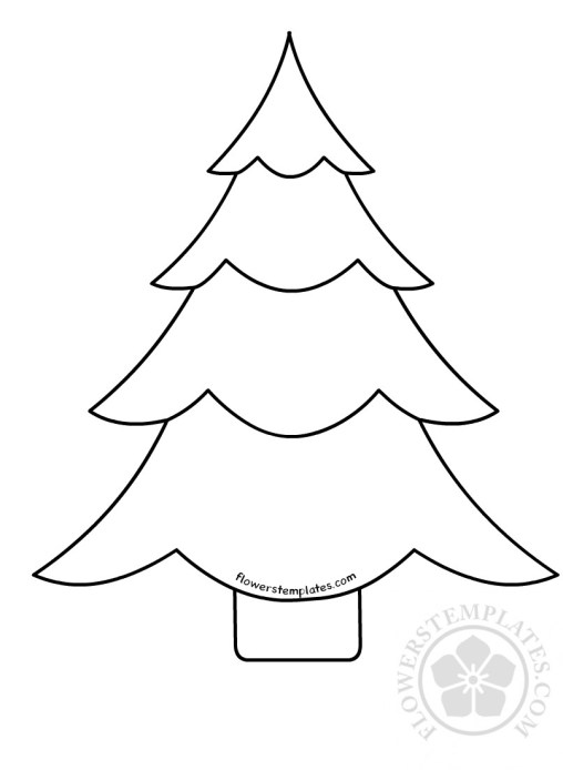 christmas tree template flowers templates
