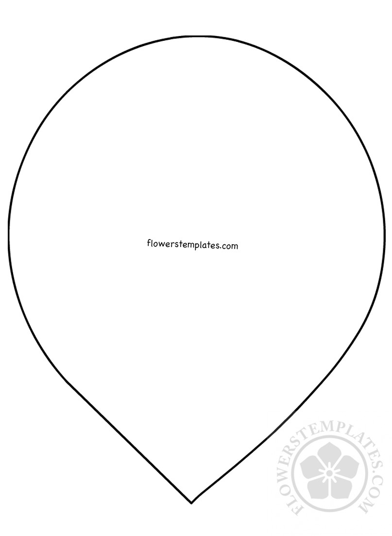 picture about Printable Flower Petal called Paper flower petal condition printable Bouquets Templates