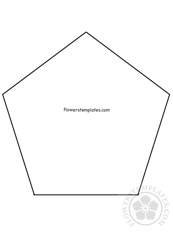 5 Sided Base Paper Flower Bases Printable Flowers Templates
