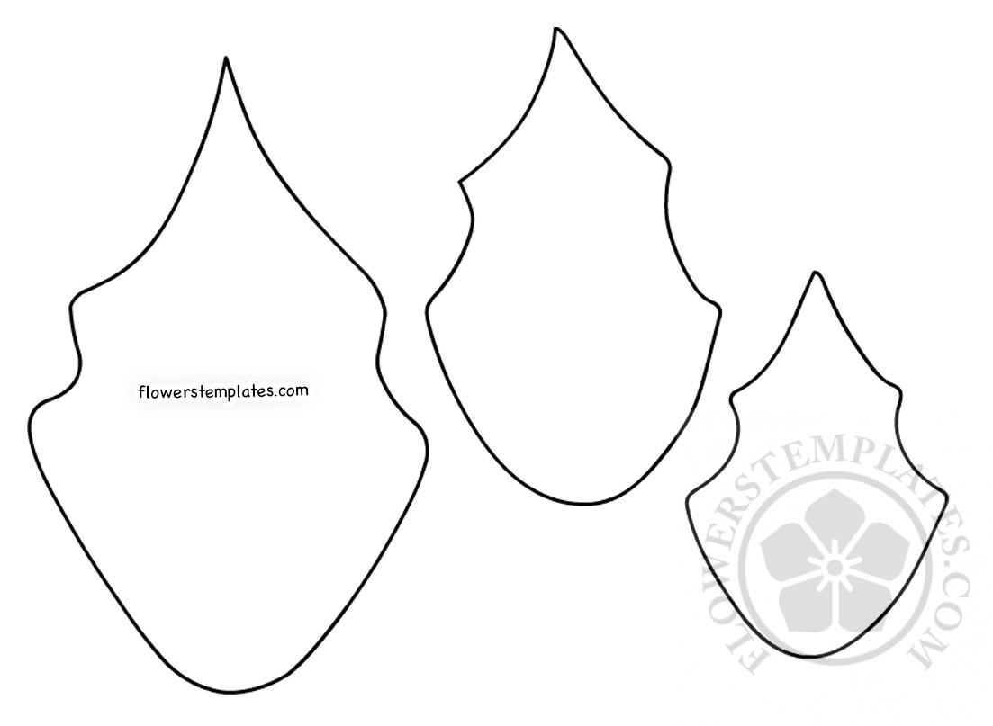 picture regarding Printable Poinsettia Template titled Paper Poinsettia Leaf behavior printable Bouquets Templates