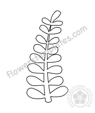 Simple Leaf Template Printable Flowers Templates