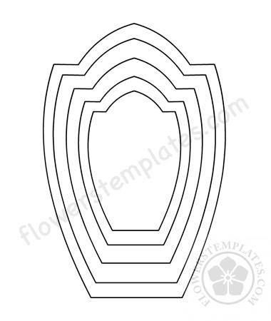 graphic regarding Printable Flower Petal Template Pattern called Printable Flower petal template habit Bouquets Templates