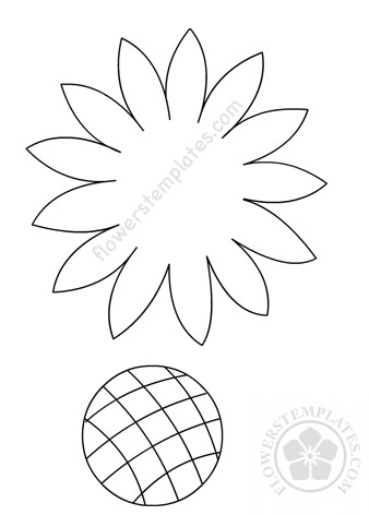 graphic about Sunflower Template Printable named Sunflower Bouquets Templates