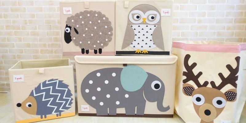 【育兒好物】加拿大3 sprouts收納箱-可愛動物們幫我把雜亂客廳變可愛♥寶寶的玩具收納首選