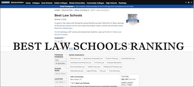 【LLM留學準備】Best Law Schools Ranking~全美法學院排行榜