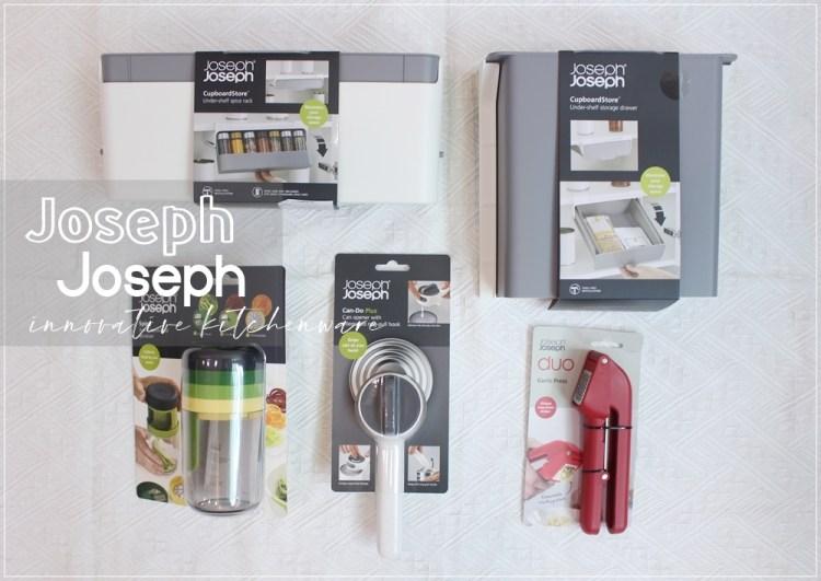 【小花廚房】英國Joseph Joseph設計餐廚-我的廚房夢幻逸品Part2(白色旋轉開罐器、壓蒜器、三合一刨絲器、櫥櫃香料抽屜、櫥櫃小物抽拉收納盒)