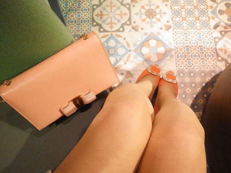 【Engagement】我的訂婚鞋~Bo Derek蜜桃粉方鑽高跟鞋