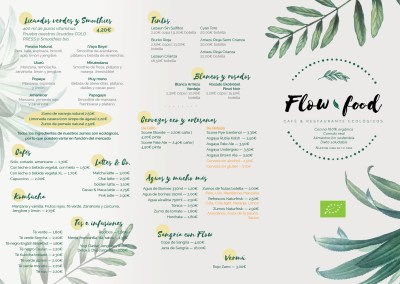 Carta de Bebidas Flow Food