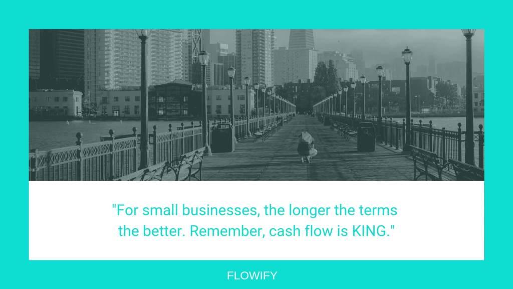 Shopify terms cash flow
