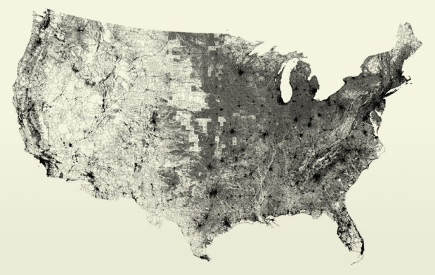 All Million Road Segments In Continental United States - Continental us road map