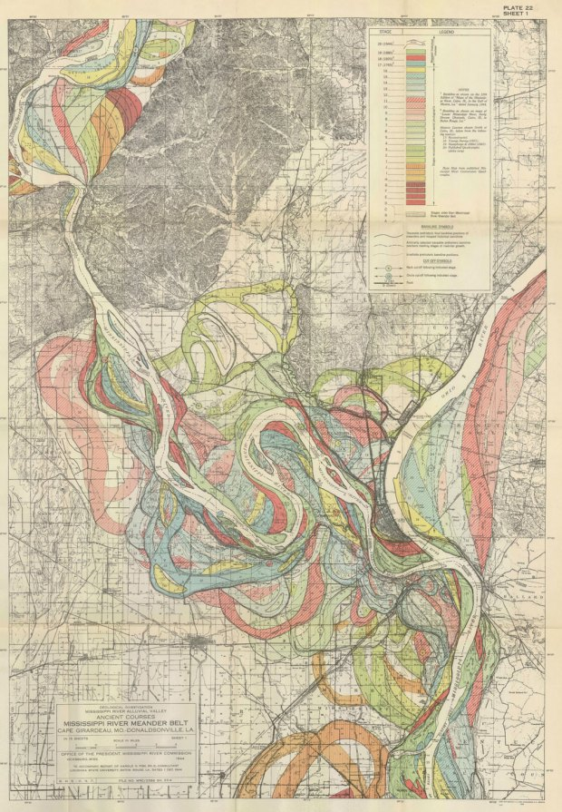 Evolving Path Of The Mississippi River FlowingData - Map of the mississippi
