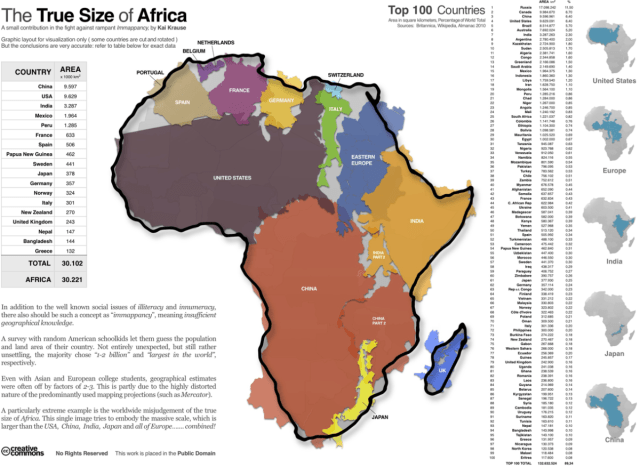 True size of Africa | FlowingData