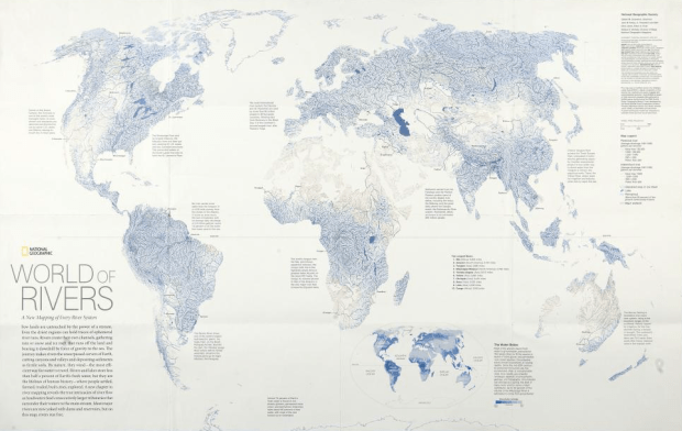 Every River System Mapped In World Of Rivers FlowingData - River system map
