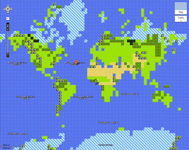 8-bit Google Maps, Start Your Quest | FlowingData on