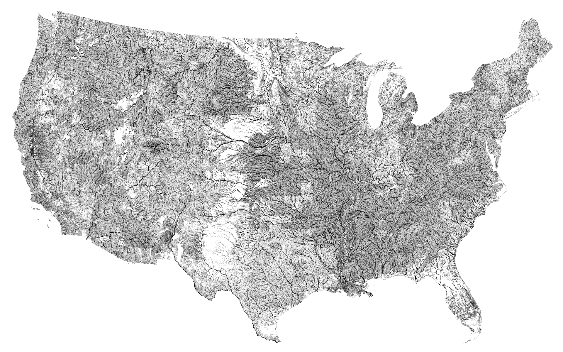 Map Of The Us Rivers - Map of the rivers in the us