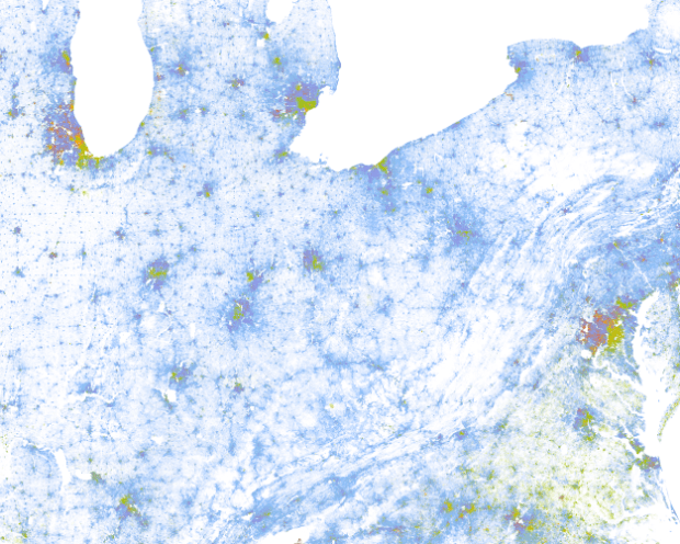 Racial dot map | FlowingData on