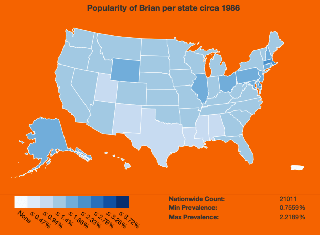 Name popularity by state, animated by year | FlowingData
