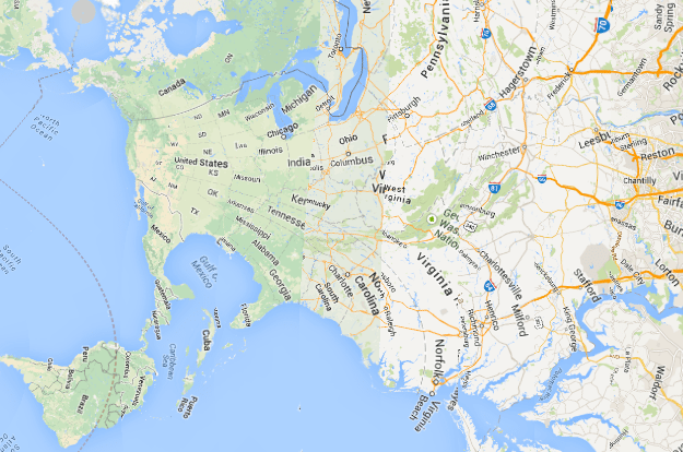 Charming Mercator Projection With Pole Shifted To Where You Live