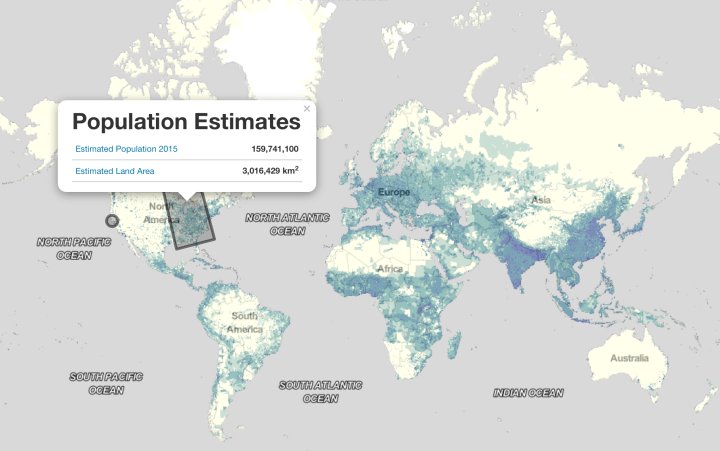 World population estimator and gridded data from nasa flowingdata with their population estimate service nasa provides data at higher granularity you can request estimated population in gumiabroncs Gallery