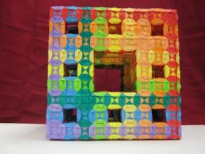 brocade-sonobe-level-2-menger-sponge-front-1 by Ardonik via Flickr