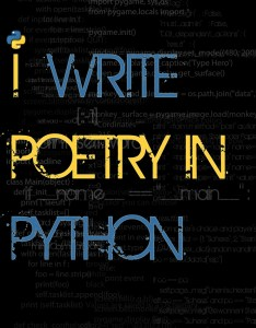 I write poetry in python by axlawaii via Flickr