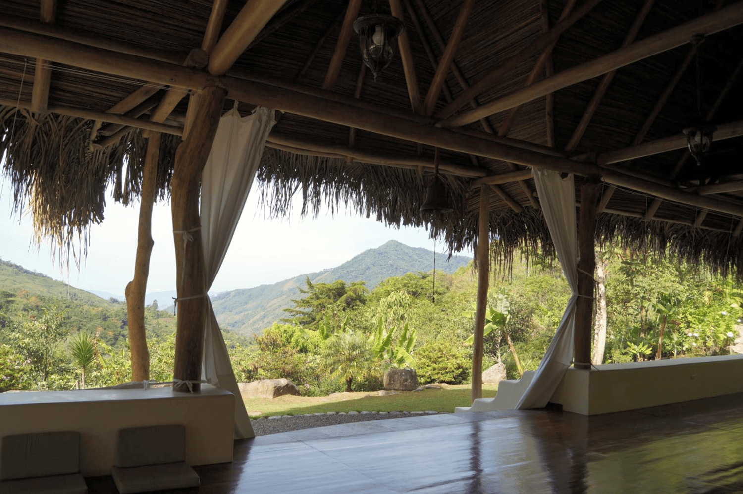 The view from the practice hall at our mountain retreat in Costa Rica