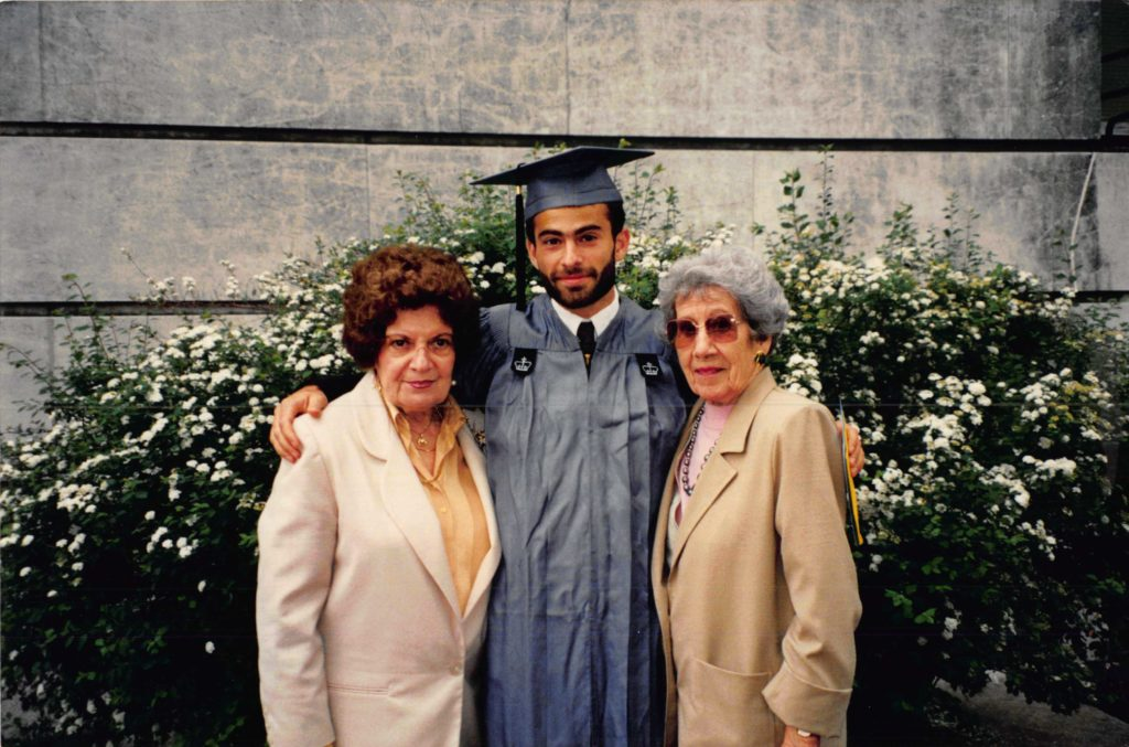 With my 2 grandmothers in 1994 when I graduated from Columbia