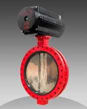 series 79 industrial flanged butterfly valve