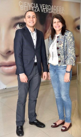 Omar Tejeda y Lourdes Serulle.