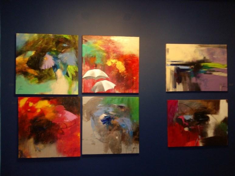 Algunas de las obras de la exposiciones Flora y Fauna en District Co The Gallery.