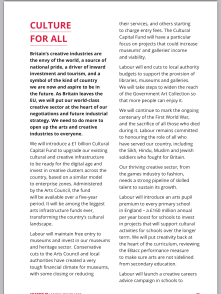 Labour Manifesto - Culture