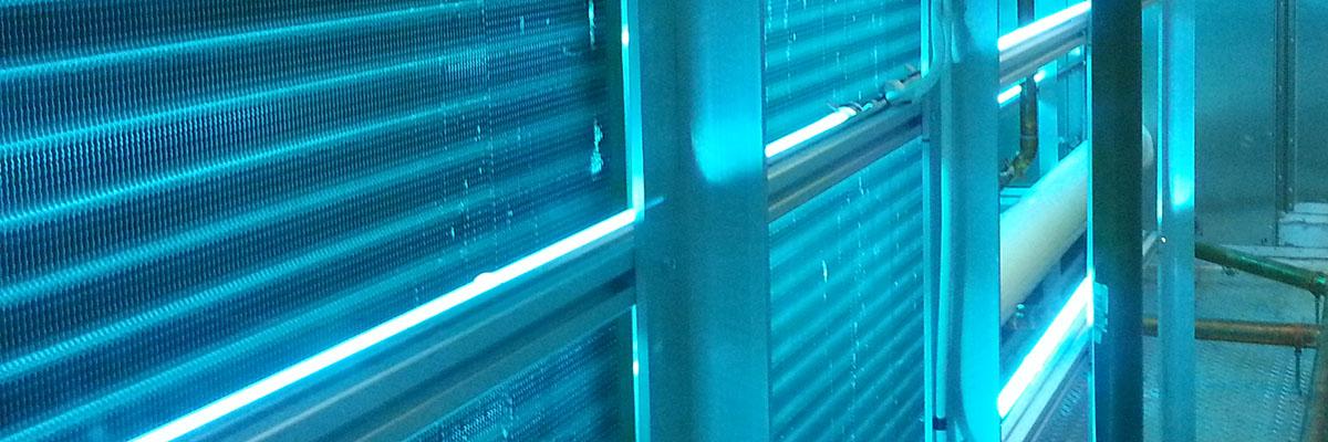 UV-C Emitters in AHU, UConn Health L Bldg