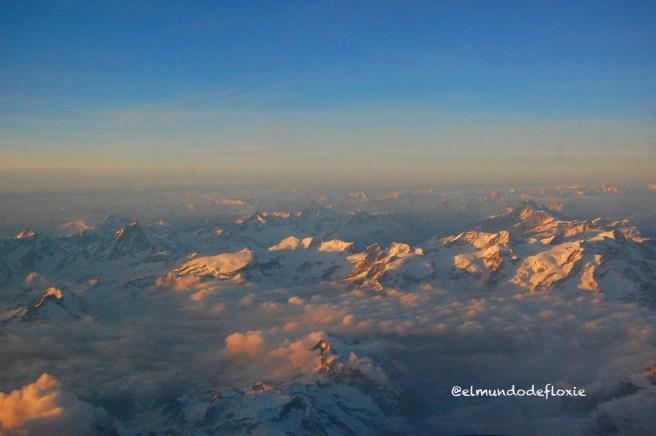 Alpes Suizos desde la ventana