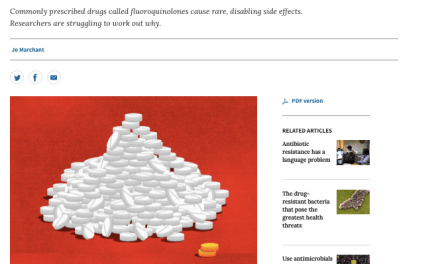 Fluoroquinolone Toxicity Featured in NATURE