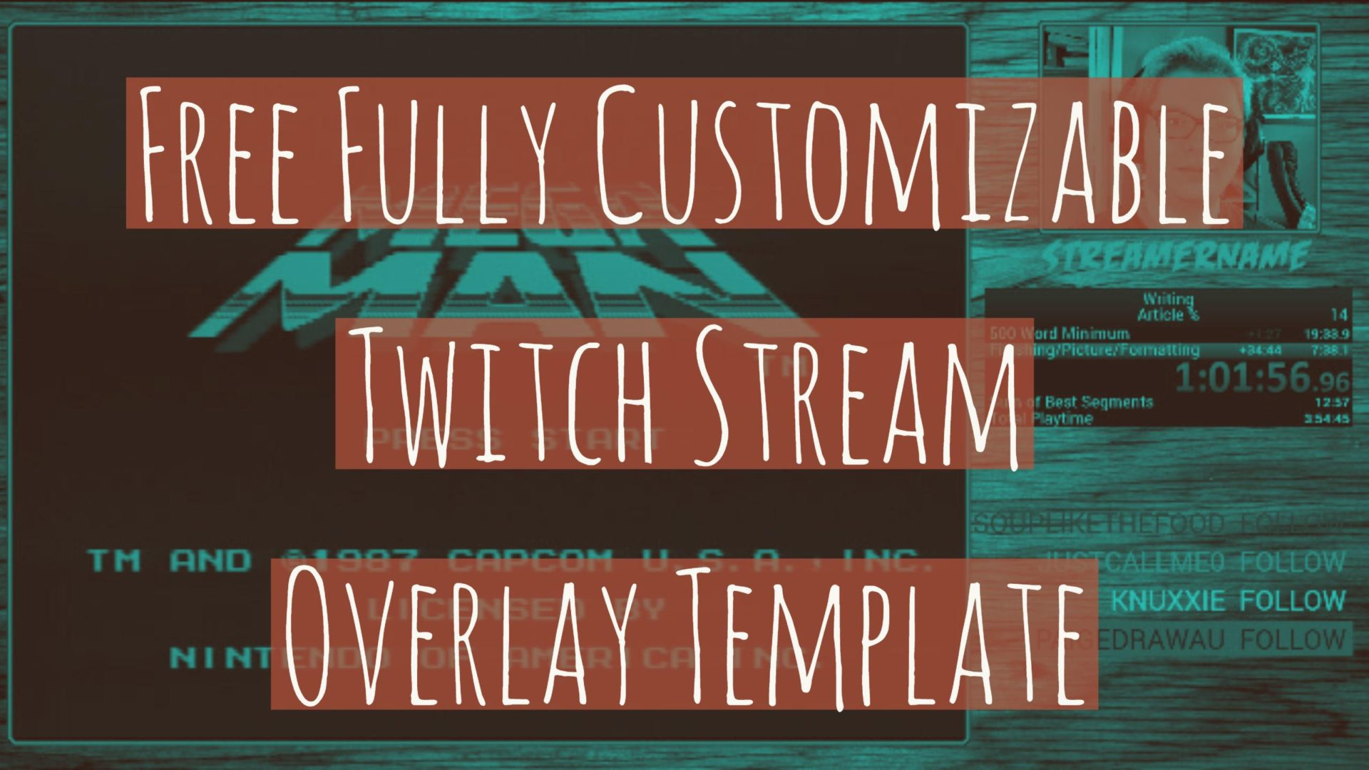 Free Fully Customizable Twitch Stream Overlay Template