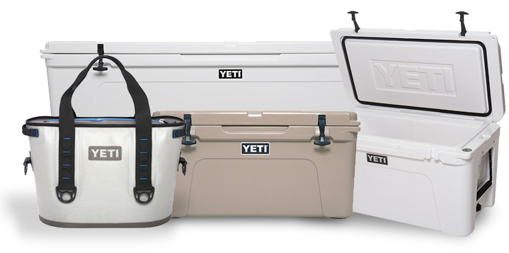Yeti coolers and products