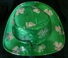 Sparkling Green Hat with Shamrock design