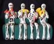 "Decoration for Day of the Dead (honors ancestors)-Latin America-Aztec/Spanish-Ceramic/Glaze-6"" x 8"" x 3"""