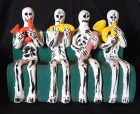 Skeleton band of four musicians