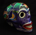 Decorated skull (side view)-