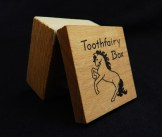 """Holds child's fallen-out baby teeth for the """"tooth fairy"""" to exchange for money-USA-American-Wood-1"""" x 1 1/2"""""""