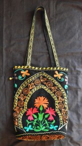 """Carrying objects-India-Indian-Embroidered cloth-15"""" x 11 1/4"""""""