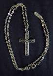 """Sign of Christianity/Protection-Global-Christian-Silver plate-11 1/4"""" long, cross 1 1/2"""" long"""