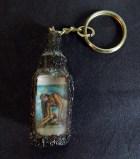 Amulet with Jesus image keychain