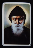Prayer card to St. Charbel (front)