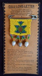 Zulu love letter in symbolic bead colors