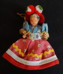 "Toy/Collectible-Hungary-Hungarian-Cloth/Plastic-4"" tall"