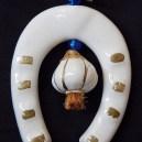 Horseshoe and garlic amulet