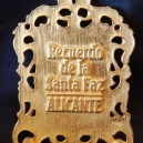 Recuerdo de la Snata Faz Allcante (Reverse side inscription)