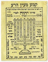 Menorah Prayer card